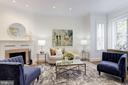 Living Room with Fireplace - 1721 WILLARD ST NW, WASHINGTON