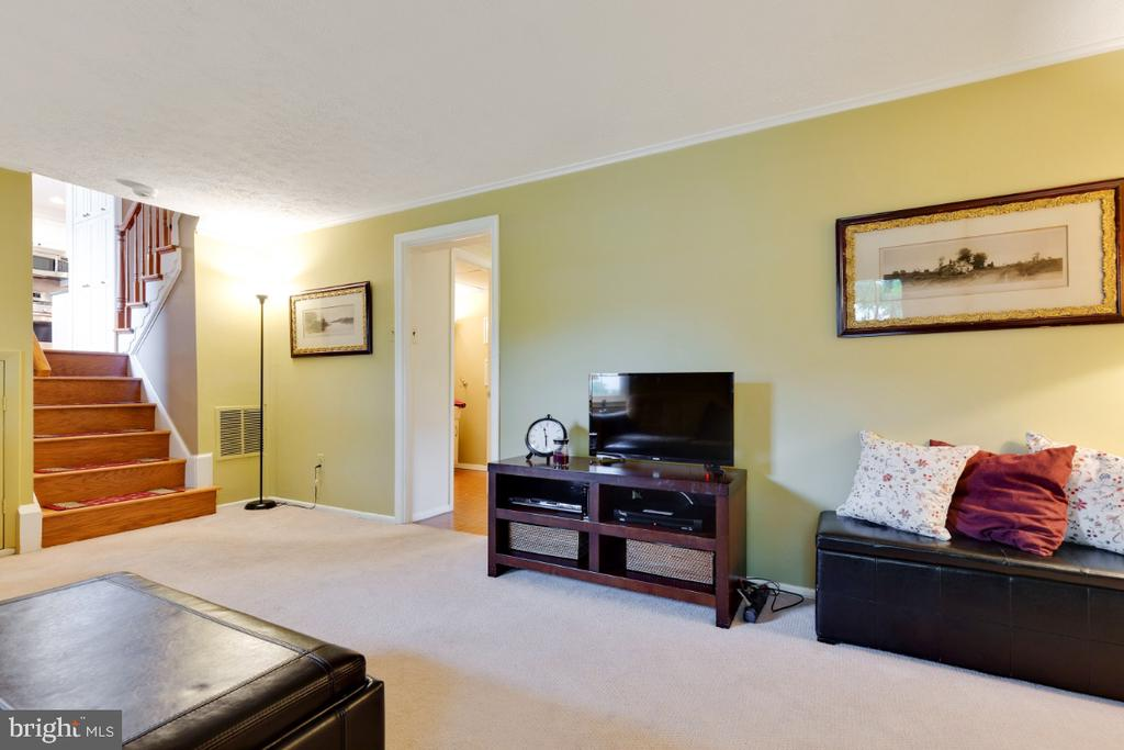 Recreation room in basement - 5307 CARTHAGE LN, BURKE