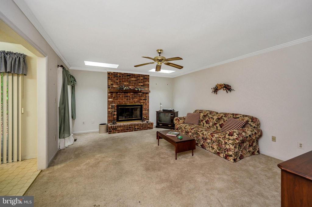 Living Room with Skylites & gas fireplace - 4617 LAKEVIEW PKWY, LOCUST GROVE