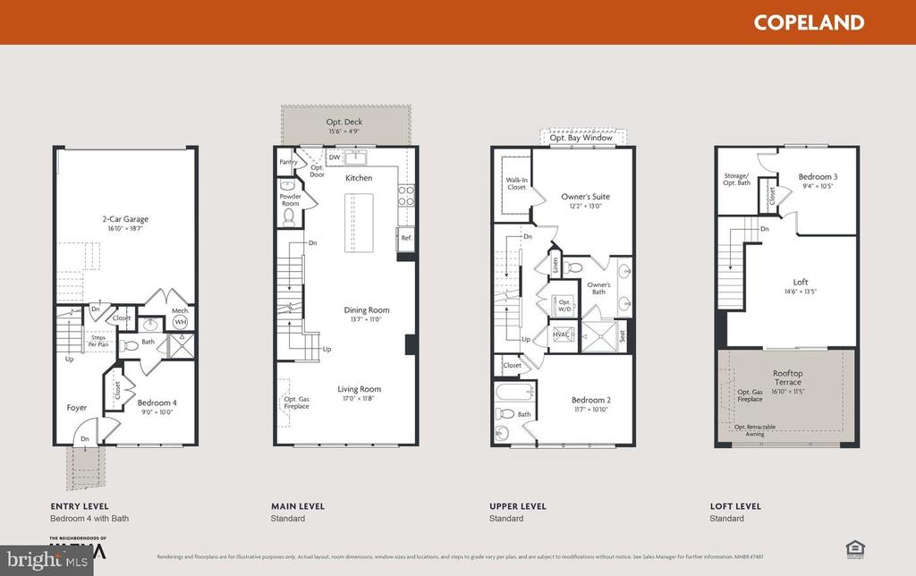 EYA Copeland floorplan - 16636 CRABBS BRANCH WAY, ROCKVILLE