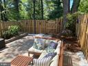 Back yard is  landscaped with patio, fire pit, - 5508 KENDRICK LN, BURKE