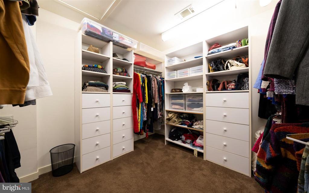 Custom designed, walk-in Master Closet - 6072 WHITE FLINT DR, FREDERICK