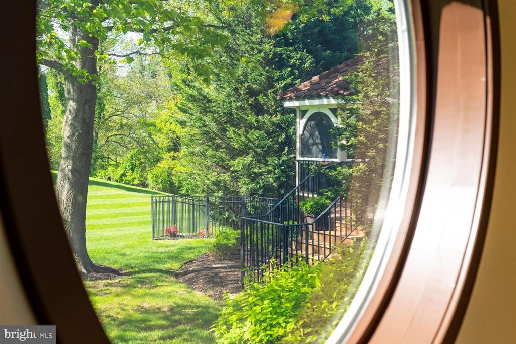 View from oval window on 1st floor hallway - 6072 WHITE FLINT DR, FREDERICK