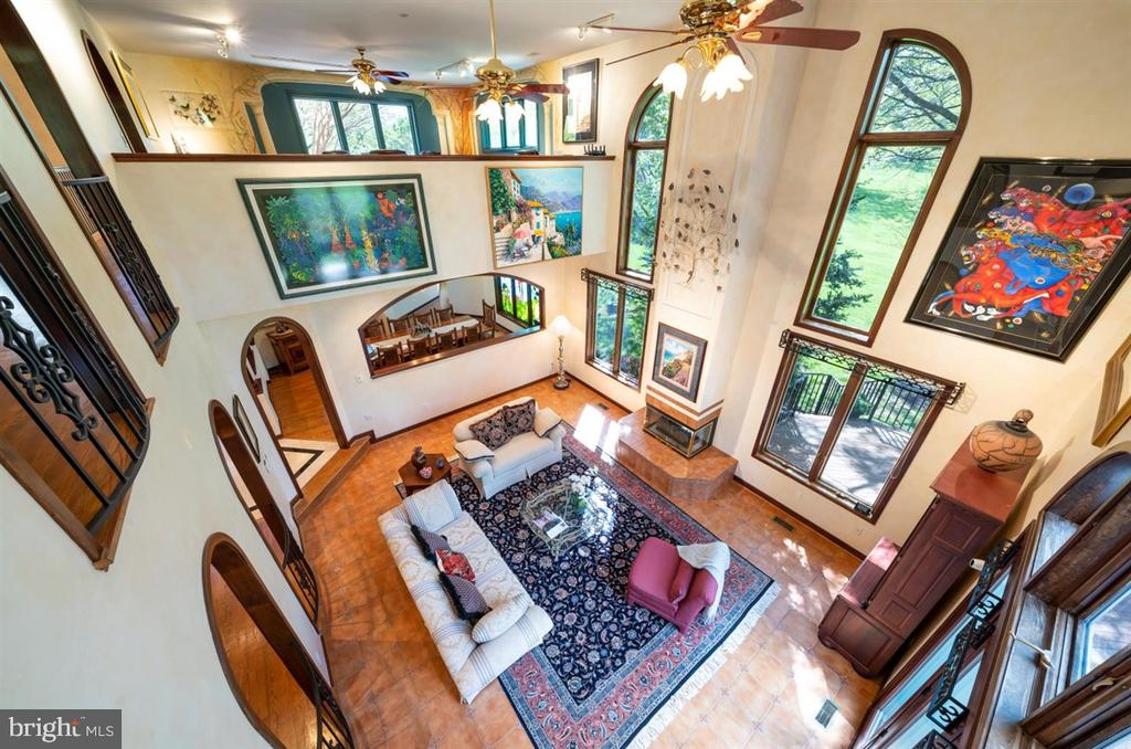 Overlook to living room below. - 6072 WHITE FLINT DR, FREDERICK