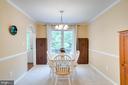 Crown molding and chair railing. - 1065 MOUNTAIN VIEW RD, FREDERICKSBURG