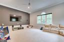 Large Media Room wired for surround sound. - 1065 MOUNTAIN VIEW RD, FREDERICKSBURG