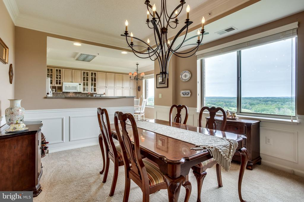Separate dining room with endless views - 19355 CYPRESS RIDGE TER #1118, LEESBURG