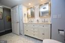 Lower Level Master Bath has Double Vanity - 3001 GILLIS FALLS RD, MOUNT AIRY