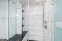Glass shower with custom fixtures - 2301 N ST NW #517, WASHINGTON