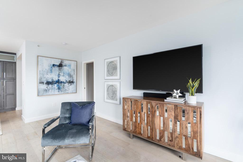 Wall mounted TV in LR included - 2301 N ST NW #517, WASHINGTON