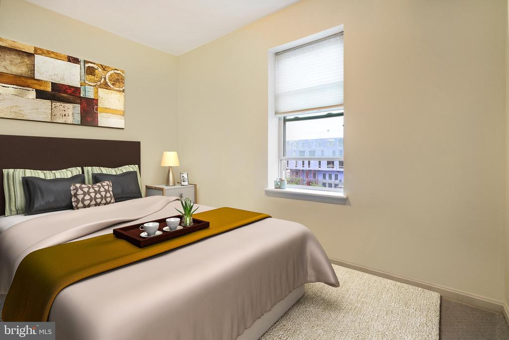 Guest Bedroom (w/Virtual Staging) - 1343 CLIFTON ST NW #302, WASHINGTON