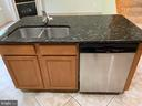 Double sink and handy spot for bar stools. - 6587 KIERNAN CT, ALEXANDRIA