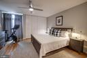 Master Bedroom with rear balcony - 363 N ST SW #363, WASHINGTON