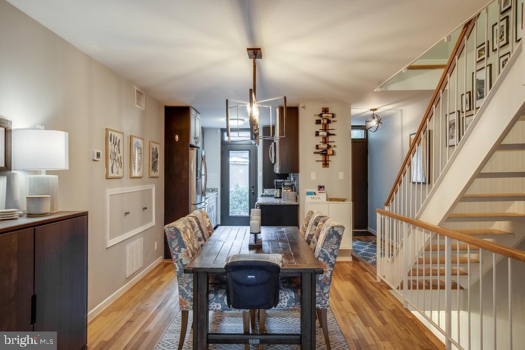 Dining room facing kitchen - 363 N ST SW #363, WASHINGTON