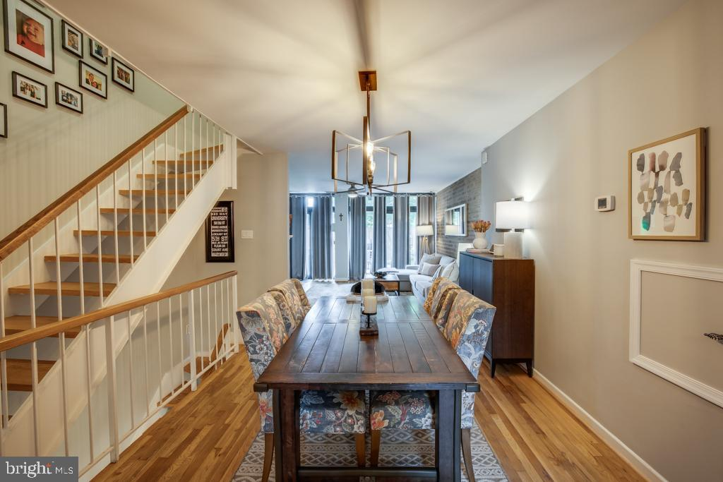 Dining room leading into family room - 363 N ST SW #363, WASHINGTON