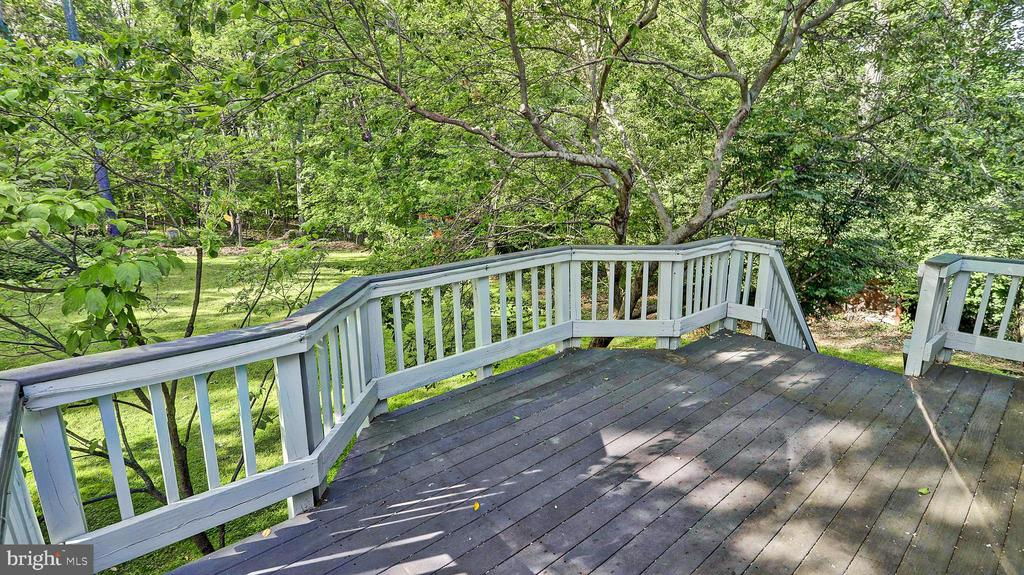 Back Deck overlooking Private Backyard - 1624 HICKS DR, VIENNA