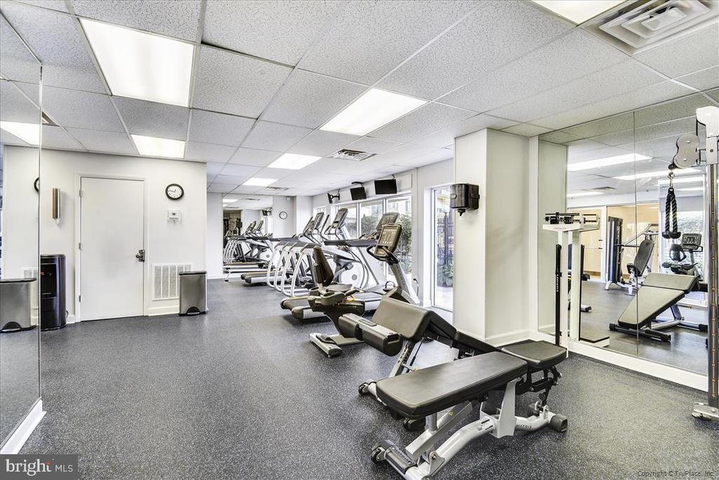 Newer fitness center with locker rooms - 501 SLATERS LN #703, ALEXANDRIA