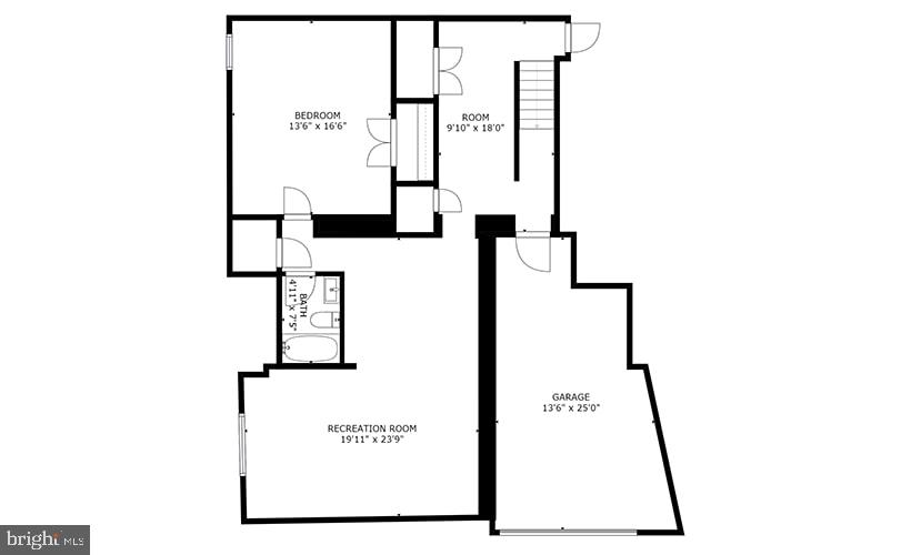 Lower Level Floorplan - 8728 RIDGE RD, BETHESDA