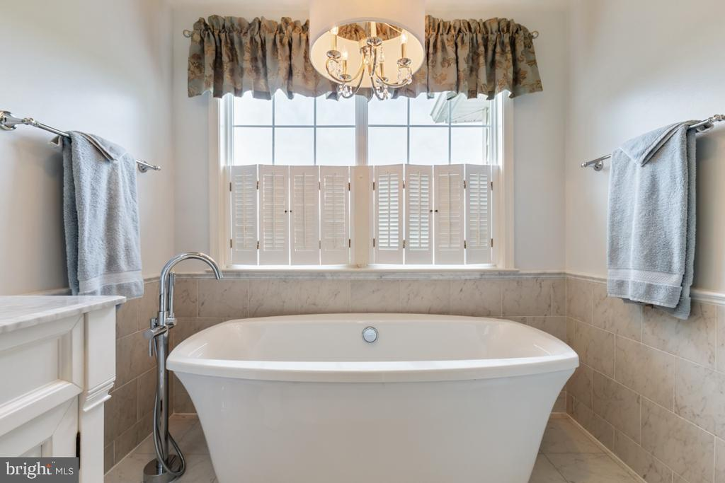 Remodeled Master Bathroom with Soaking Tub - 19912 MIZNER TER, ASHBURN
