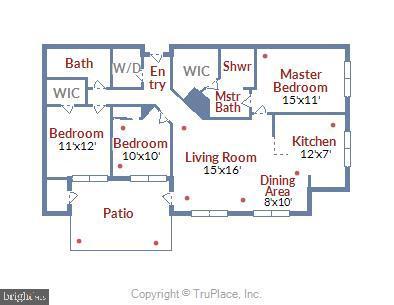 Floor Plan - 11800 OLD GEORGETOWN RD #1222, ROCKVILLE