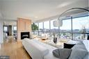 Floor-to-ceiling windows w/ panoramic views of DC. - 2001 15TH ST N #1004, ARLINGTON