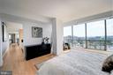 Master Bedroom Suite has views of DC - 2001 15TH ST N #1004, ARLINGTON