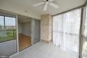 ENCLOSED BALCONY  WITH CEILING FAN - 19385 CYPRESS RIDGE TER #307, LEESBURG