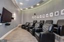 Residence Movie Theatre Room - 1881 N NASH ST #804, ARLINGTON