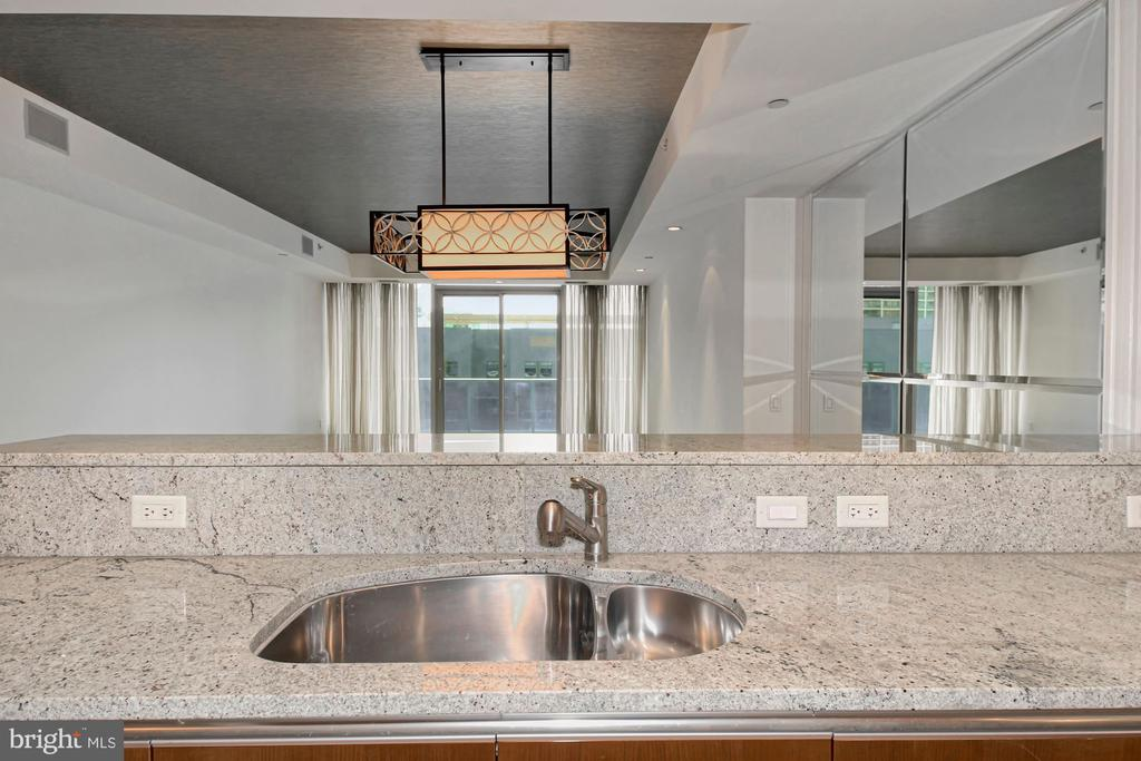 View of Living and Dining from Gourmet Kitchen - 1881 N NASH ST #804, ARLINGTON