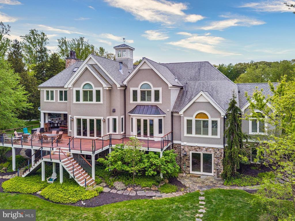 Aerial view from waterside - 809 HOMESTEAD LN, CROWNSVILLE