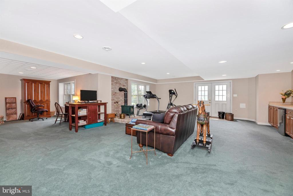light filled basement - 6950 BURKITTSVILLE RD, MIDDLETOWN