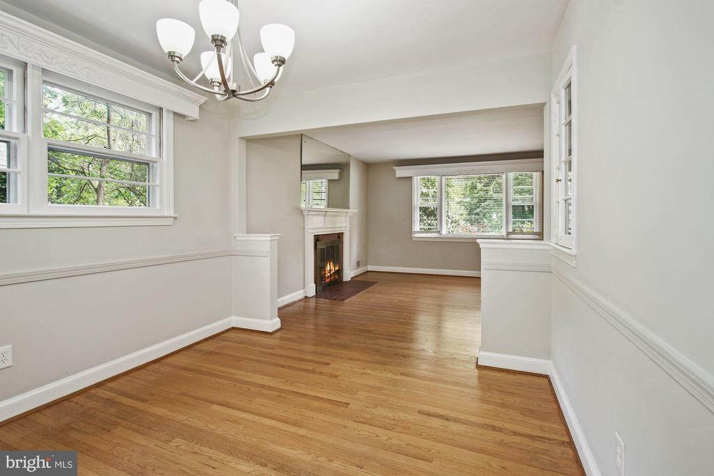 Dining Room , with view of Living room - 5810 BRADLEY BLVD, BETHESDA