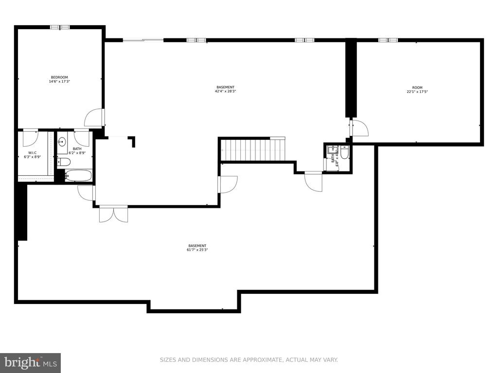 Floor plan (lower level) - 41386 RASPBERRY DR, LEESBURG