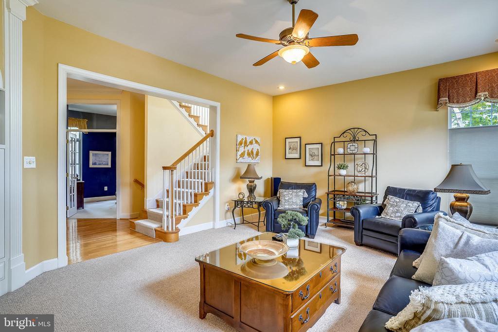 Family room with ceiling fan - 206 WATKINS CIR, ROCKVILLE