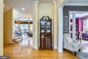 Foyer entry with hardwood flooring - 206 WATKINS CIR, ROCKVILLE