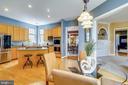 Breakfast area adjacent to kitchen - 206 WATKINS CIR, ROCKVILLE