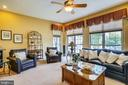 Family room with wall-to-wall windows - 206 WATKINS CIR, ROCKVILLE