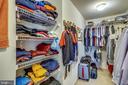 Master bedroom walk-in closet - 206 WATKINS CIR, ROCKVILLE