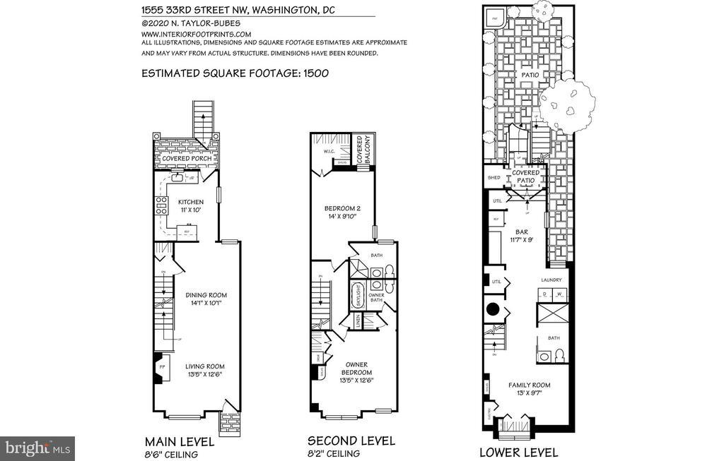 Floorplans - 1555 33RD ST NW, WASHINGTON