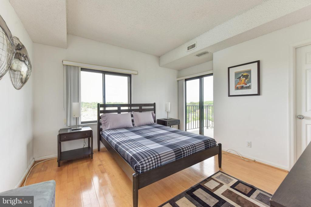 Bedroom #2 with Private Balcony Fabulous Views - 3800 POWELL LN #PH 30, FALLS CHURCH