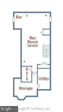 Lower Level Floor Plan - 20736 JENNIFER ANN DR, ASHBURN