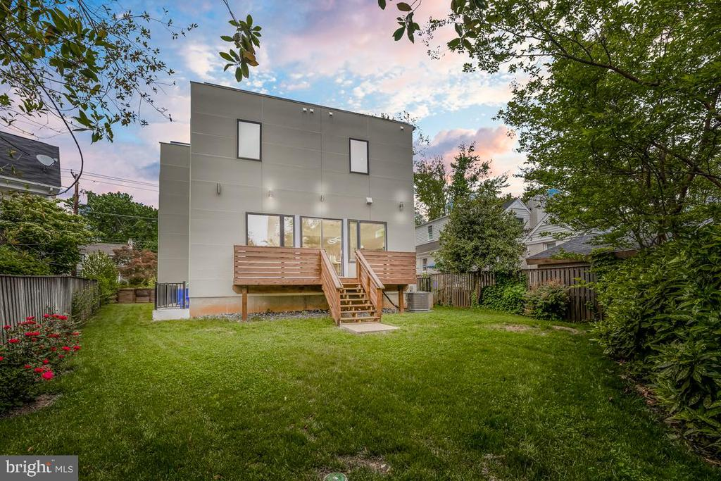 Twilight Backyard and Rear Exterior - 8728 RIDGE RD, BETHESDA