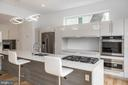 Giant Quartz Island with Custom Lacquered Cabinets - 8728 RIDGE RD, BETHESDA