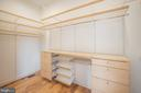 Walk-In Closet with Custom Built-Ins - 8728 RIDGE RD, BETHESDA