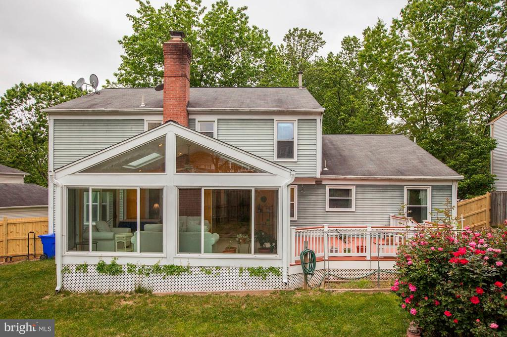 Rear view of Sunroom and Deck - 11329 CLASSICAL LN, SILVER SPRING