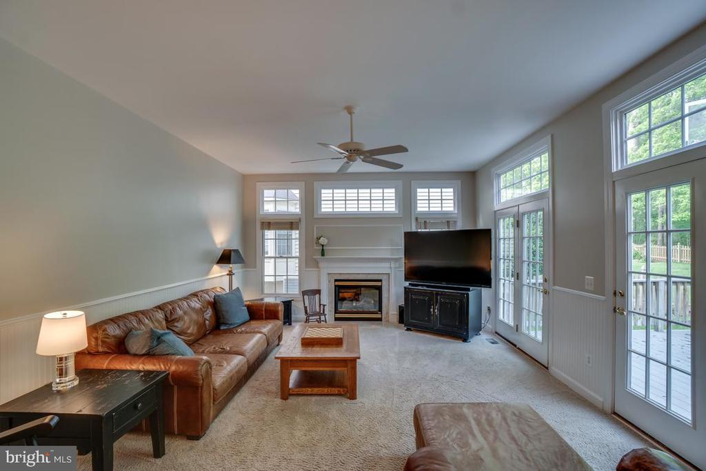 Family Room With French Doors To The Deck. - 43671 MINK MEADOWS ST, CHANTILLY