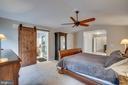 Master Bedroom Sliding Barn Doors Into Master Bath - 43671 MINK MEADOWS ST, CHANTILLY