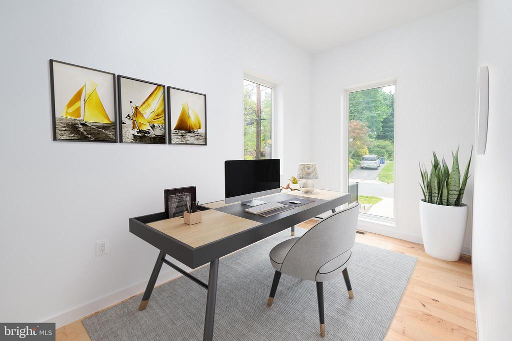 Main Level Office - Virtually Staged - 8728 RIDGE RD, BETHESDA