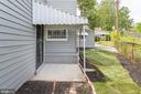 View of Entry into Utility Room & Yard - 5362 HAYES ST NE, WASHINGTON