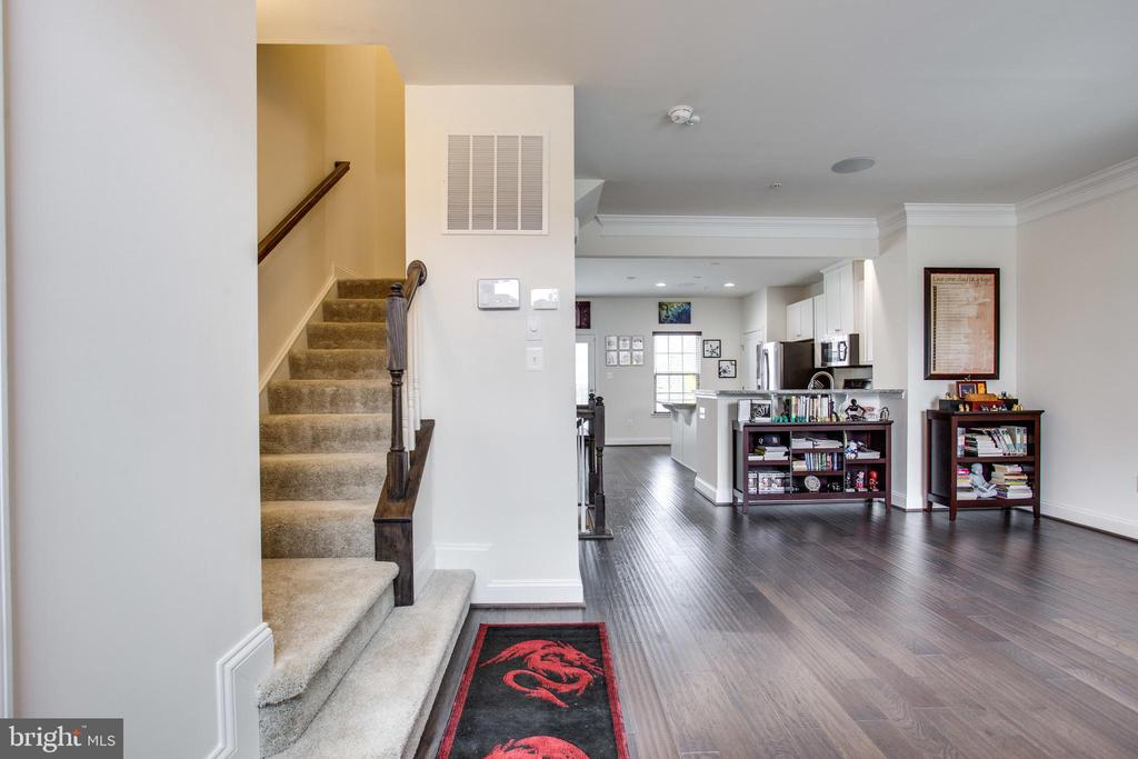 As you enter - upgraded hardwood floors... - 4846 HITESHOW DR, FREDERICK
